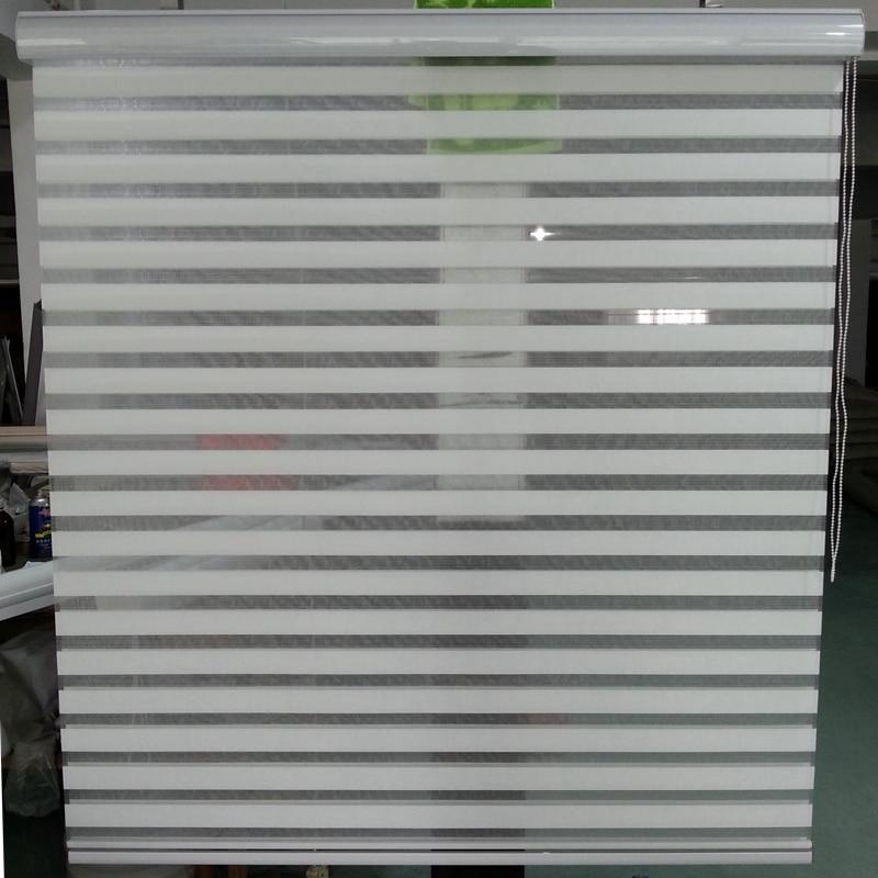Custom Size Shade Horizontal Elegance Sheer Roller Zebra Blinds in Beige Window Curtains for Living Room