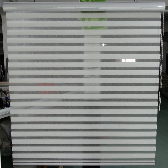 Custom Size Shade Horizontal Elegance Sheer Roller Zebra Blinds in