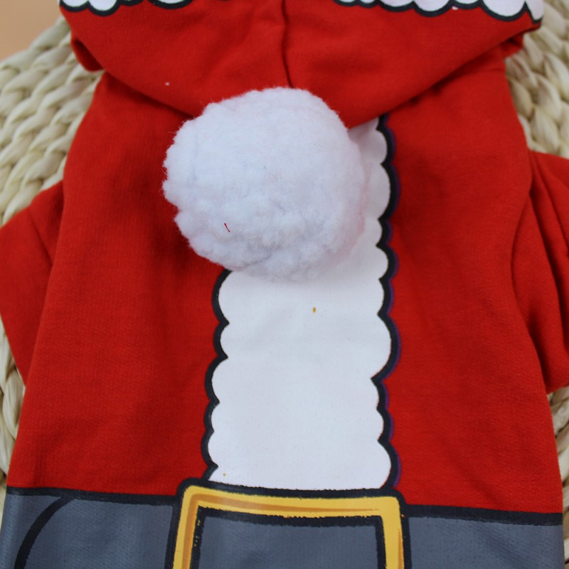 Pets Dog Clothes Christmas Dog Hoodie Puppy Clothes With Snowball Pets Winter Clothing Sweater