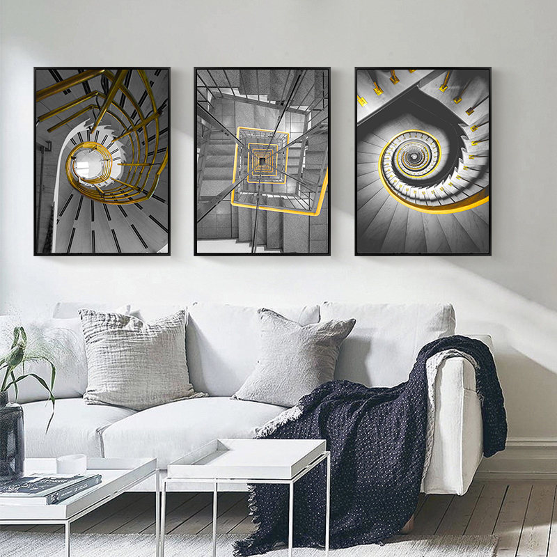 Rotating Ladder Home Decor Nordic Modern Canvas Art