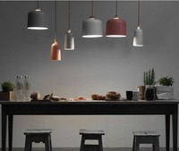 Living room bar Pendant Light Simple Nordic solid wood head aluminum restaurant lights coffee shop clothing shop lamp ZCL FG401