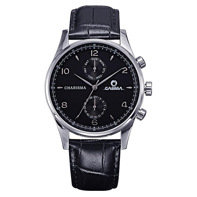 CASIMA New listing Men Simple watch Luxury Brand Watches Quartz Clock Fashion Leather Sports wristwatch relogio male waterproof