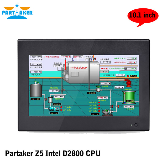 Partaker Z5 All In One PC with 10 inch 1024 * 600 Industrial 4-wire Resistive Touchcreen