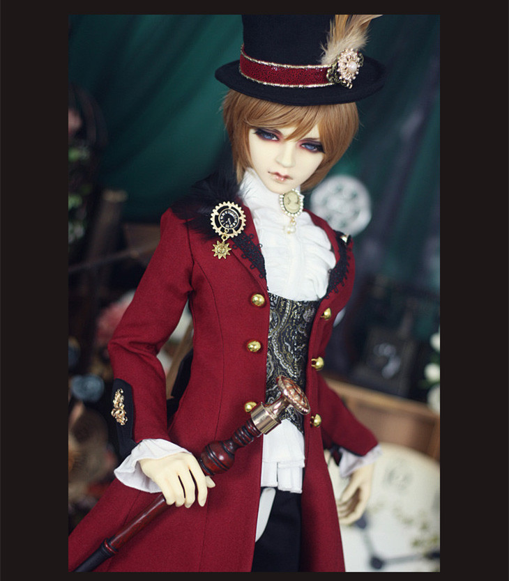 European Style Mr.Red Outfit for BJD Doll 1/3 SD10 SD13 SD17 Uncle IP SOOM Doll Clothes LF62 new bjd doll jeans lace dress for bjd doll 1 6yosd 1 4 msd 1 3 sd10 sd13 sd16 ip eid luts dod sd doll clothes cwb21