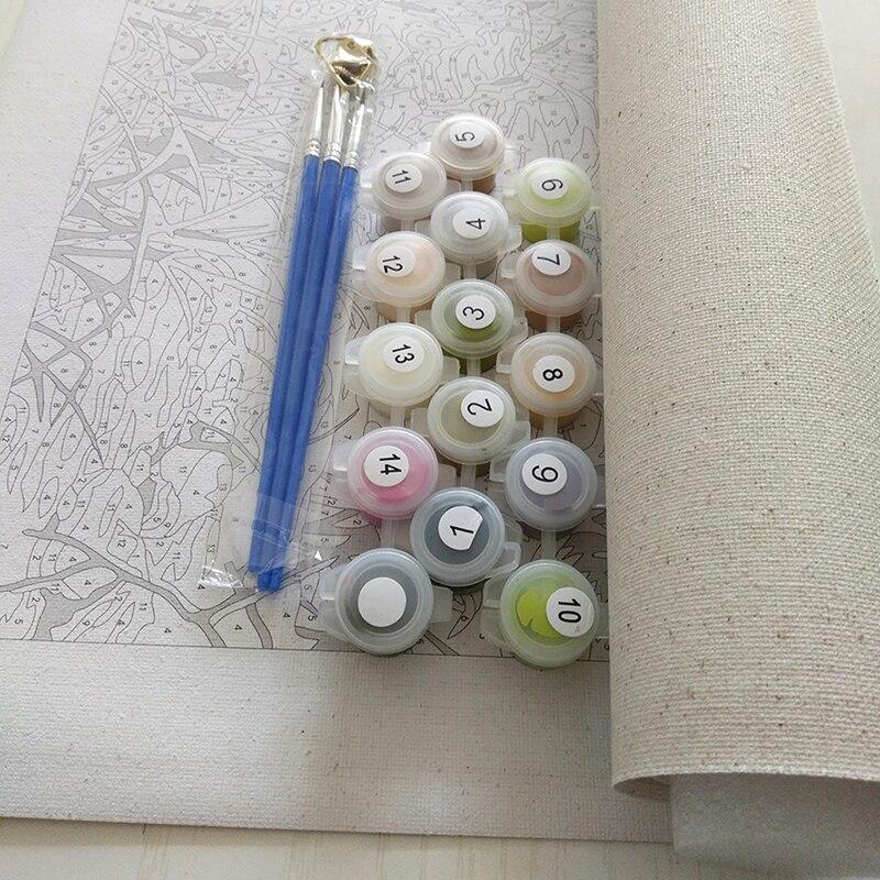 Rahmenlose Acryl Bild Lavendel DIY Malen Nach Zahlen Kits Zeichnung - Wohnkultur - Foto 4