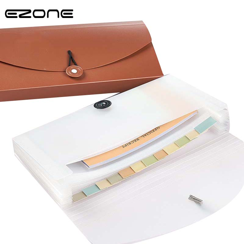 EZONE 1PC Cute Paper Documents Bags Multilayer PP Waterproof Organizer Holder Bags Folder Envelope For Office Storage Supplies