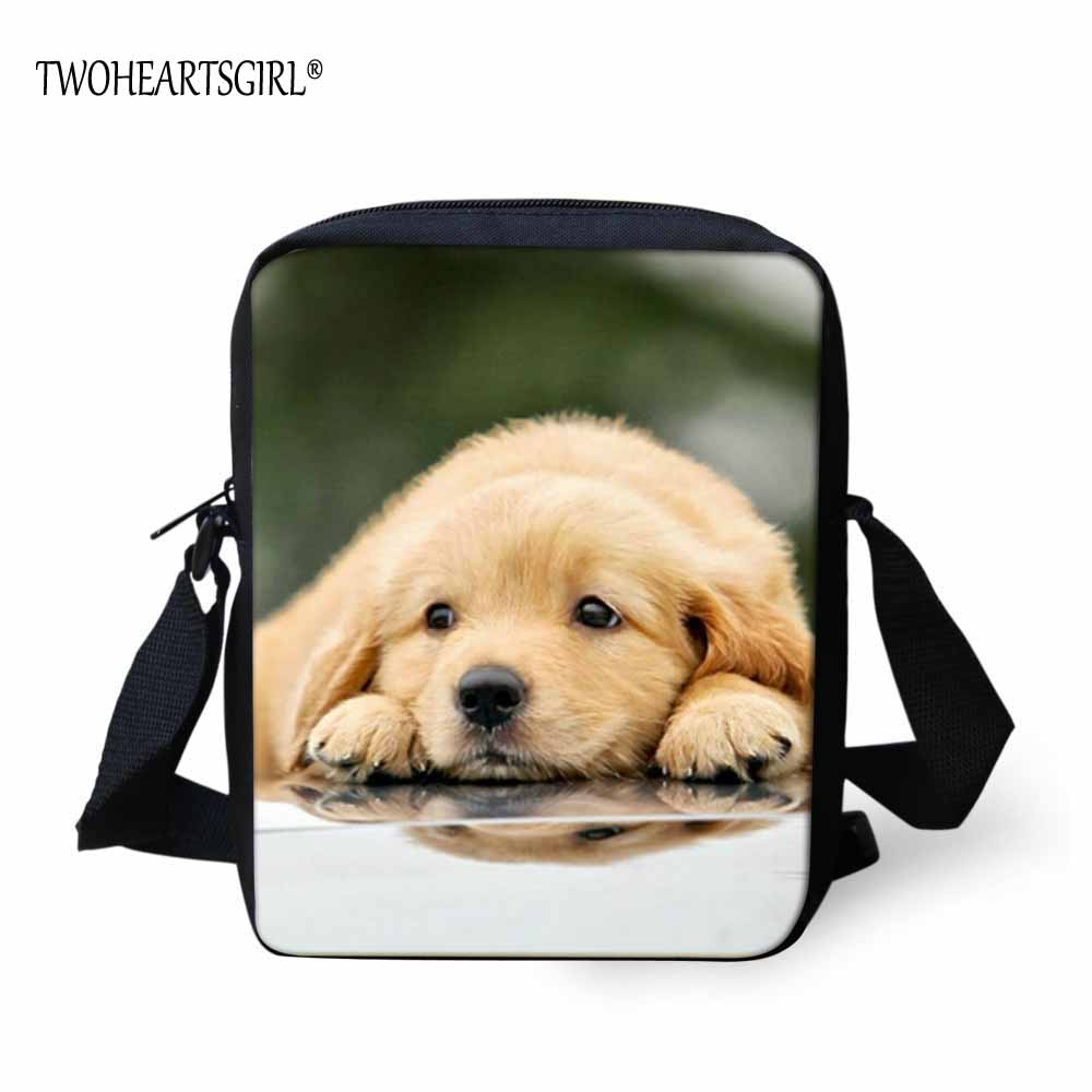 TWOHEARTSGIRL Lovely Dog Printed Men Mini Messenger Bag Male Shoulder Bag  Light Weight Easy to Carry Teen Boys Crossbody bag -in Crossbody Bags from  Luggage ... d2a3695164bde