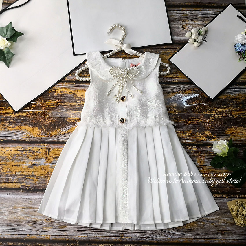951266 Christmas Weeding Pearl Princess Baby Girls Dresses New Winter Fall Autumn Kid Dress For Girl