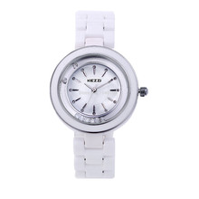 Free Transport Kezzi Girls's Women Watch Ok810 Quartz Analog Ceramic Costume Wristwatches Presents Bracelet Informal Waterproof relogio