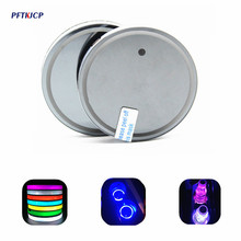 Diameter 68mm 2pcs Car Multicolor LED Cup Coaster for Ssangyong Rexton Kyron Korando Actyon led light