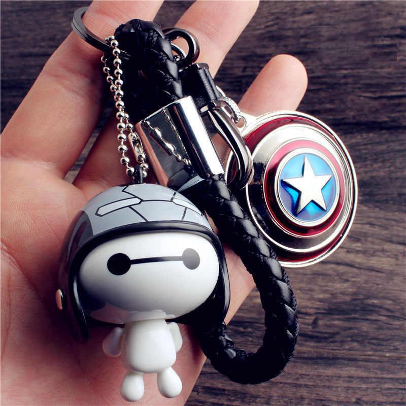 Vingadores chaveiro para chaves pingente super marines grande branco chaveiro marvel homem de ferro carro