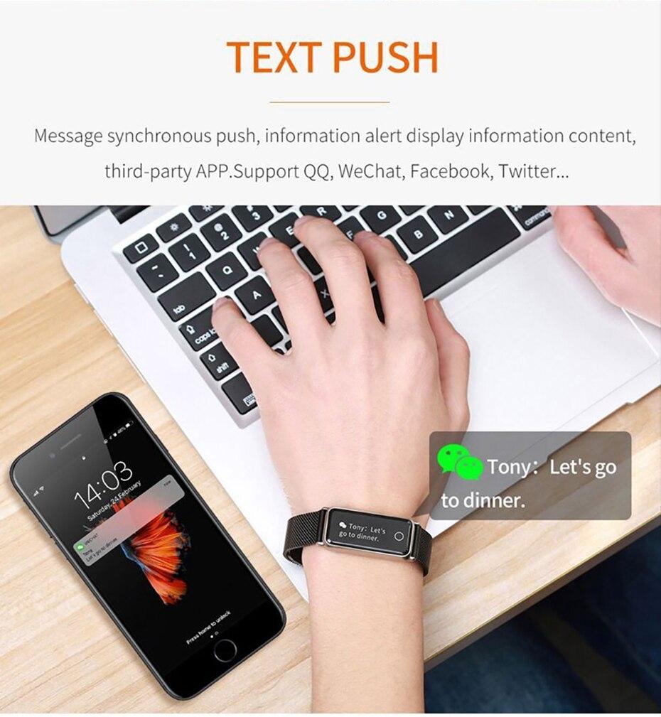 Y8 Smart Watch Stainless Steel Women Sports Touch Screen Health Bracelet Ons Men Fitness Bracelet for Measuring Pressure Fitness 2018 2019 (14)
