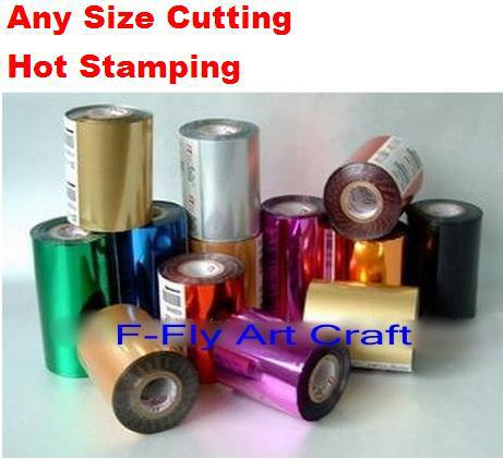 Different Color Foils Hot Stamping Paper Leather Hot Stamping 120 Meters According To Customer S Arbitrary