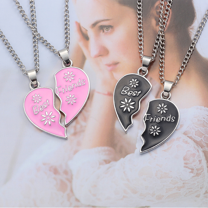 HTB1N82uea6qK1RjSZFmq6x0PFXaz - Best Friend Necklace Women Crystal Heart Tai Chi Crown Best Friends Forever Necklaces Pendants Friendship BFF Jewelry Collier