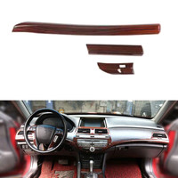 Car Interior Central Control Trim Cover for Honda Accord Eight Generation LHD Car Accessories Styling 3Pcs/set 2 Colors