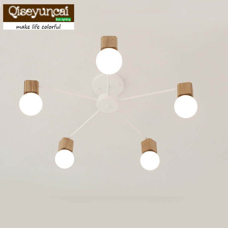 The log art creative personality Korean living room lights Xidingdeng restaurant bedroom modern minimalist lamp