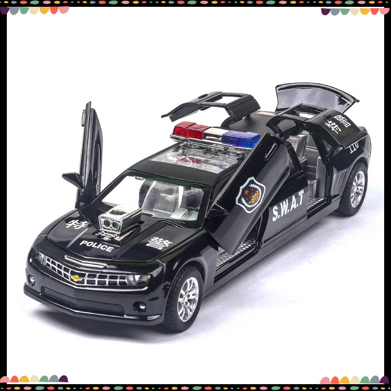 Chevrolet Extended 1/32 Model Fire Car Diecast Metal Alloy Simulation Vehicles Cars Lights Toys For Kids Gifts For Children