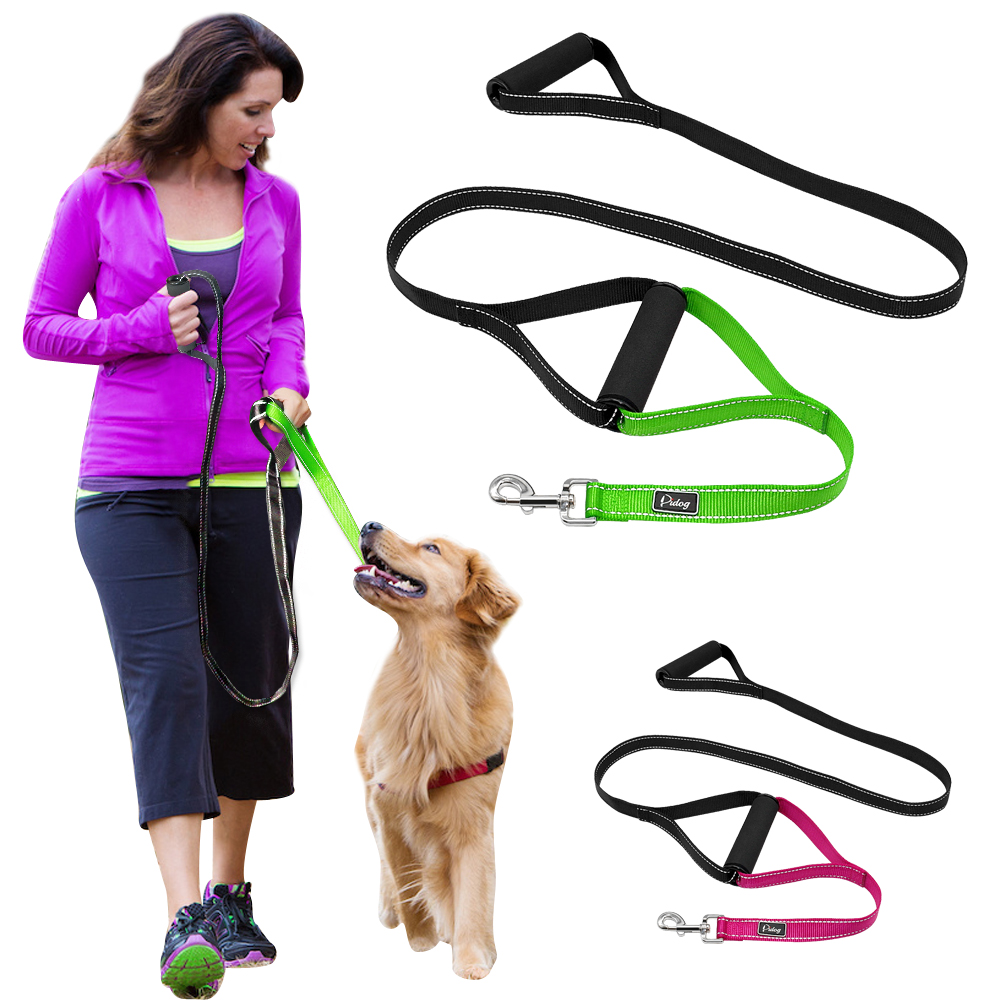 Heavy Duty Dog Leash for Large Dogs Reflective Pet Leash No Pull Double Traffic Handle Pet Training Lead for Walking Big Dogs ...