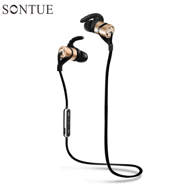 New Hot I9 Local Gold In-Ear Sport Earphone Metal Heavy Bass Sound Quality Stereo Music Earphone Magnet Headset fone Bluetooth