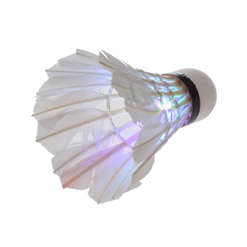 Wholesale 5*  Dark Night LED Badminton Shuttlecock Birdies Lighting(pack of 3) (multi colours)