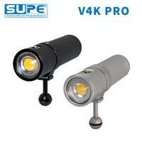 SUPE Scubalamp V4K PRO подводная фотография видео свет 7600-3800 люмен белый Ra96 5600 k подводный фонарик 120 Угол луча