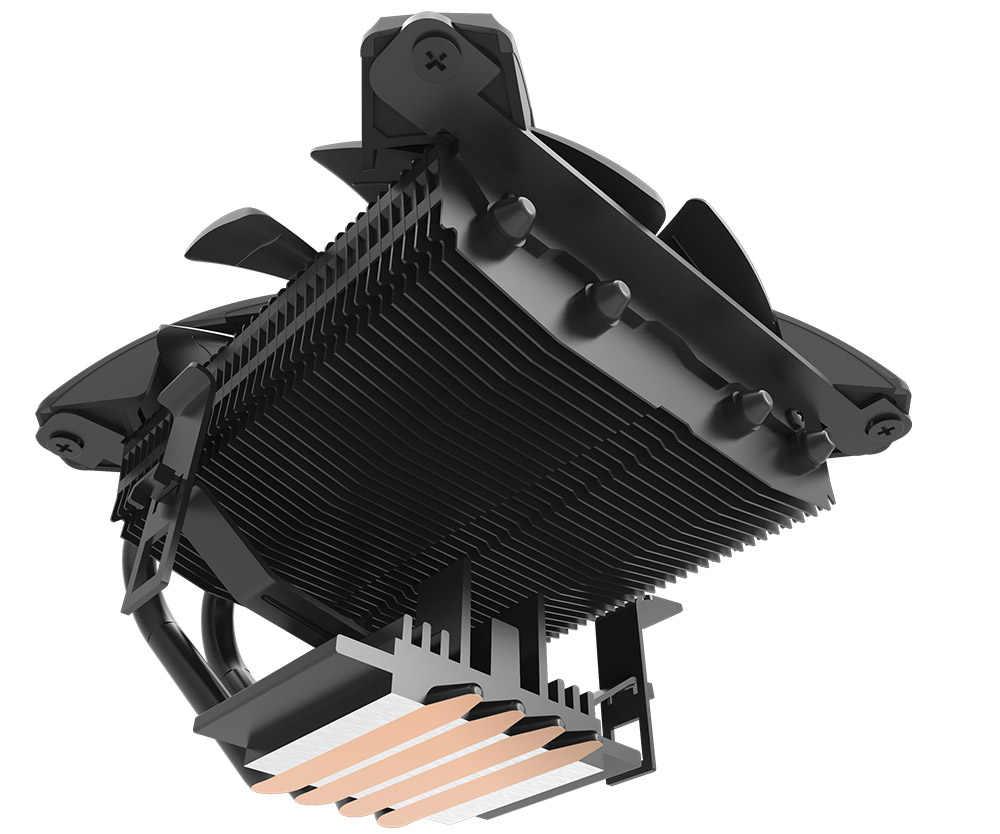 愛国者 Talon なしフレーム x 形状 RGB LED CPU クーラー PC ヒートシンク 4 ヒートパイプラジエーター冷却ファンコンピュータ CPU 空気クーラー