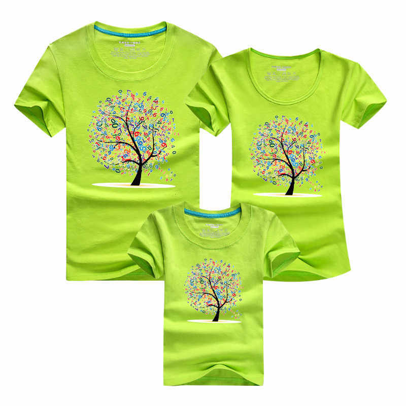 2017 Весна Лето мужские и женские парные футболки для влюбленных мультфильм цифровые деревья печать футболка harajuku футболка плюс размер Топ
