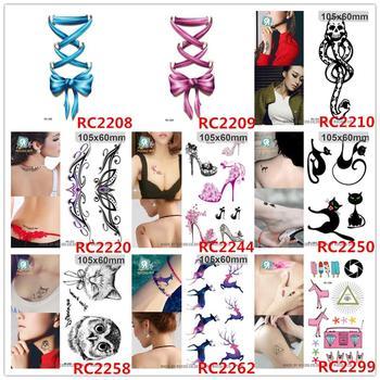 Halloween waterproof temporary tattoos for lady women cute 3d black cat design flash tattoo sticker RC2250 1