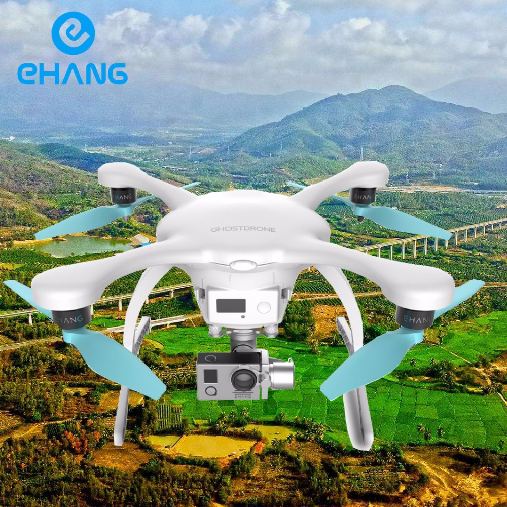 EHANG GHOSTDRONE 2.0 Aerial White GPS RC Drone Helicopter Quadcopter with 4K Sports camera Free shipping to Russia with CDEK f11341 4 ehang ghost basic rc aerial quadcopter intelligent multi rotor aerial robot for android smart phone fs