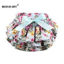 Новинка года; Детские хлопковые шорты с цветочным рисунком; модные детские шаровары с оборками для новорожденных; одежда для фотосессии; YC003