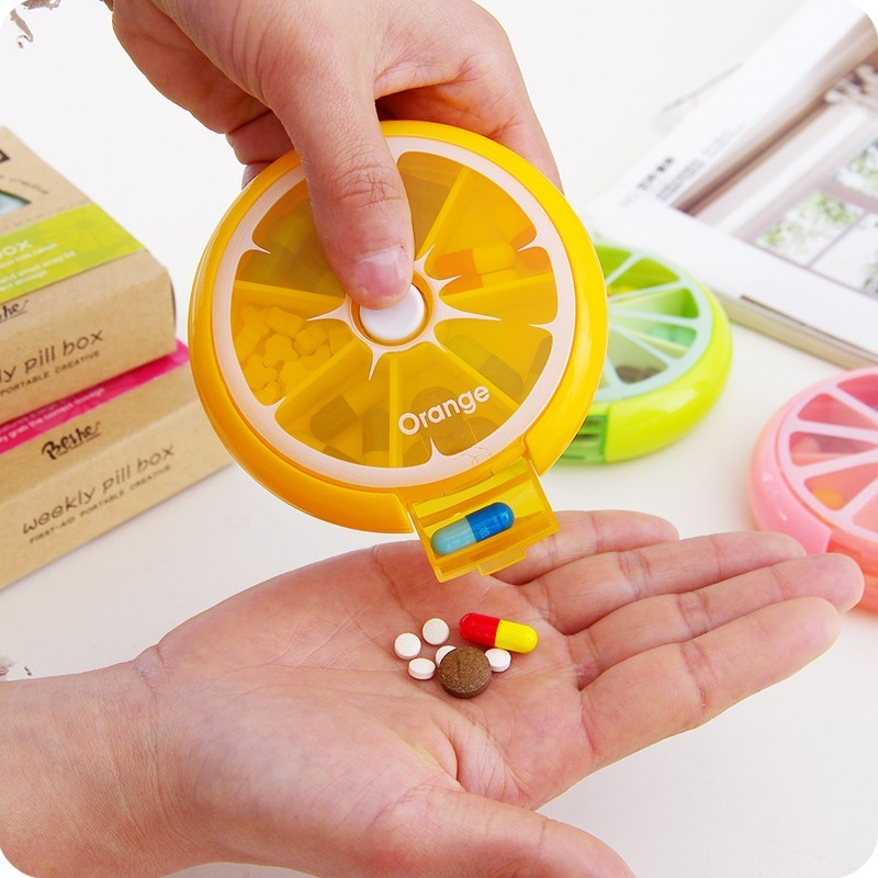 New-Portable-fruit-style-7-grid-seal-rotation-Storage-Cases-Jewelry-candy-box-Storage-Box-Vitamin (3)