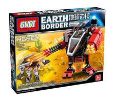 GUDI 8209 Earth Border The Desert Echo Minifigure Building Block 194Pcs Bricks Toys Compatible with Legoe