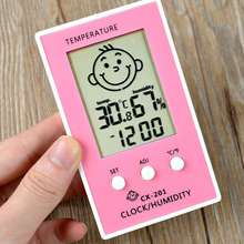 New Arrival Indoor Outdoor Thermometer Precise Hygrometer Digital Clock Temperature Logger Humidity Meter Thermometre Higrometre