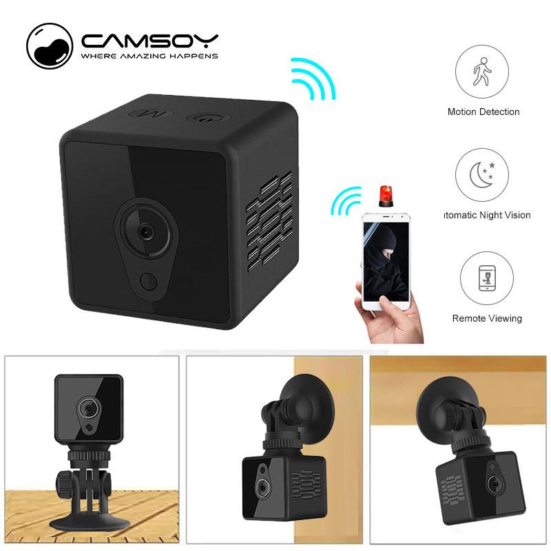 S1 Mini Home Security IP Camera Wi Fi Wireless Mini Network Camera Surveillance Wifi 720P Night Vision Camera Baby Monitor-in Surveillance Cameras from Security & Protection