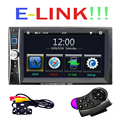 6.6 ''HD 2 Din Rádio Do Carro MP5 Player Touch Screen Bluetooth Ligação de Telefone Telefone Inteligente Estéreo MP3 Player de Rádio/MP4/Vídeo/Áudio/USB