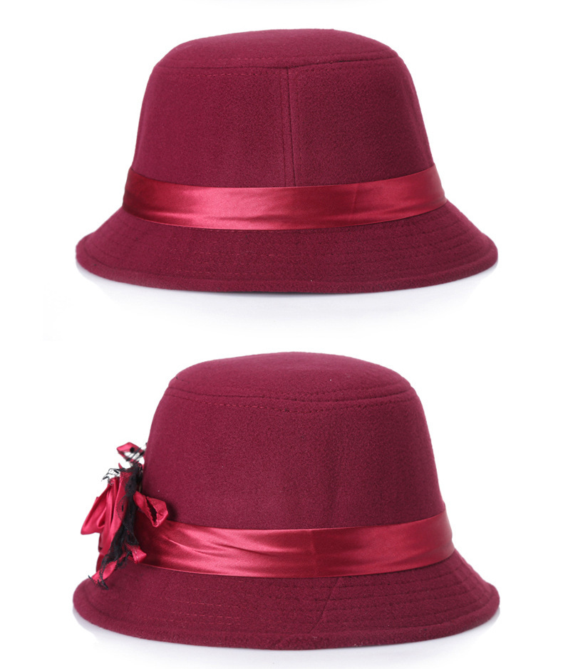 2dc84464b922c ... Flower Protect Ear Warm Bowler Winter Floppy Ladies Church Cloche. Hats  undefined undefined undefined undefined undefined undefined undefined  undefined