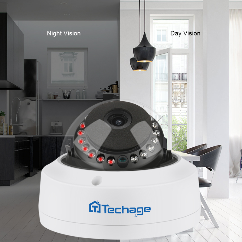 Image 5 - Techage H.265 8CH 5MP POE NVR CCTV System Vandalproof 5MP Indoor Dome IP Camera Audio Record Security P2P Video Surveillance Set-in Surveillance System from Security & Protection