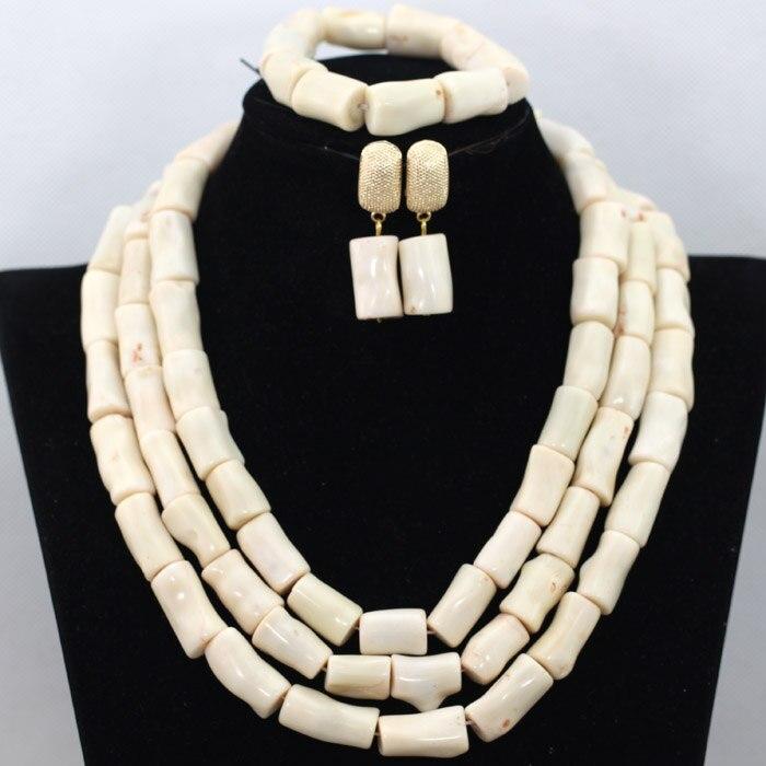 도매 크림 화이트 아프리카 웨딩 산호 비즈 목걸이 세트 나이지리아 chunky 산호 페르시 여성 축하 보석 세트 cg016-에서보석 세트부터 쥬얼리 및 액세서리 의  그룹 1