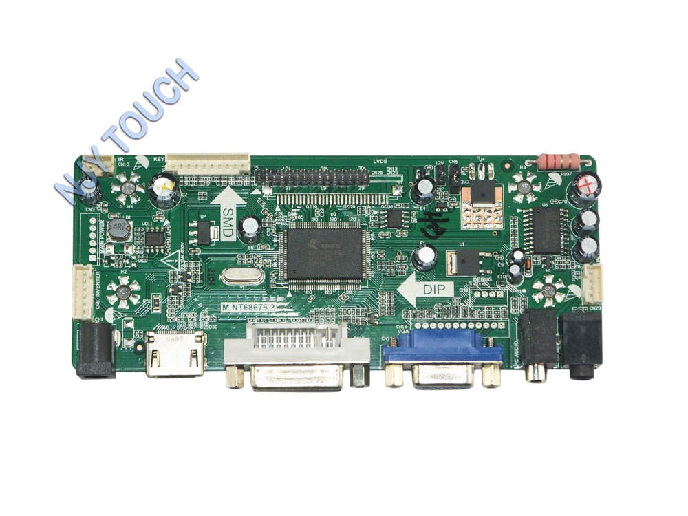 M.NT68676.2A Universal HDMI DVI VGA Audio LCD LED Controller Board LVDS DIY Reuse Laptop for Raspberry Pi m nt68676 2a universal hdmi vga dvi audio lcd controller board for 17 1inch 1680x1050 lp171we2 tl03 monitor for raspberry pi