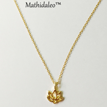 Good Karma Lotus Necklace Gold Color  Pendant Necklace Clavicle Chain Statement Necklace Women Jewelry E009