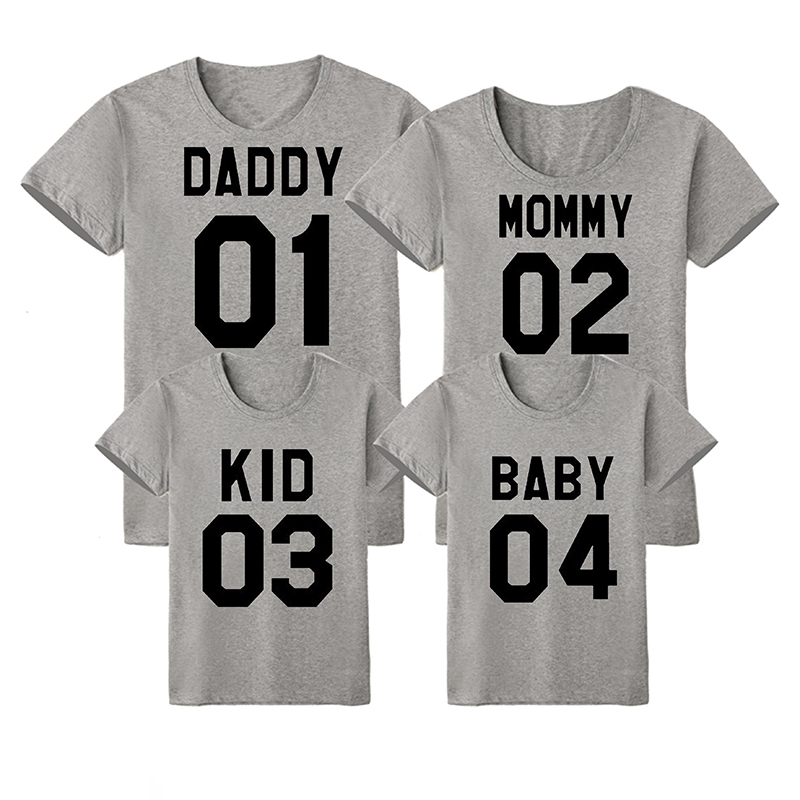 Family Matching Clothes Summer Family Matching Outfits Short-sleeved Cotton Matching Family Clothes T-shirt New Family Look