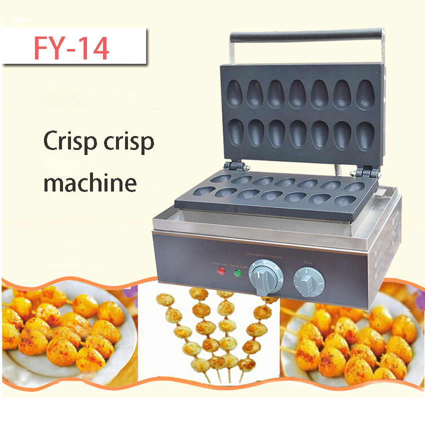 1PC  FY-14 commercial electric crackers crispy Fried egg machine mechanical and electrical hot scone machine baked eggs