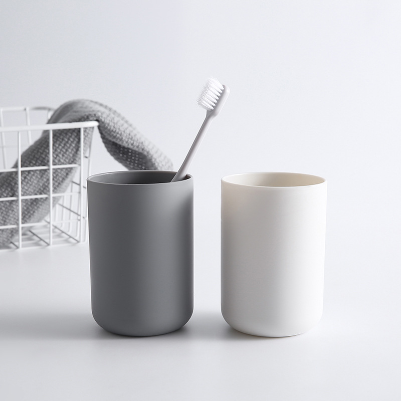 1PC Creative Portable Japanese Style Bathroom Toothbrush Cup Simple Plain Cup Three Color Couple Tooth Cup coffee table