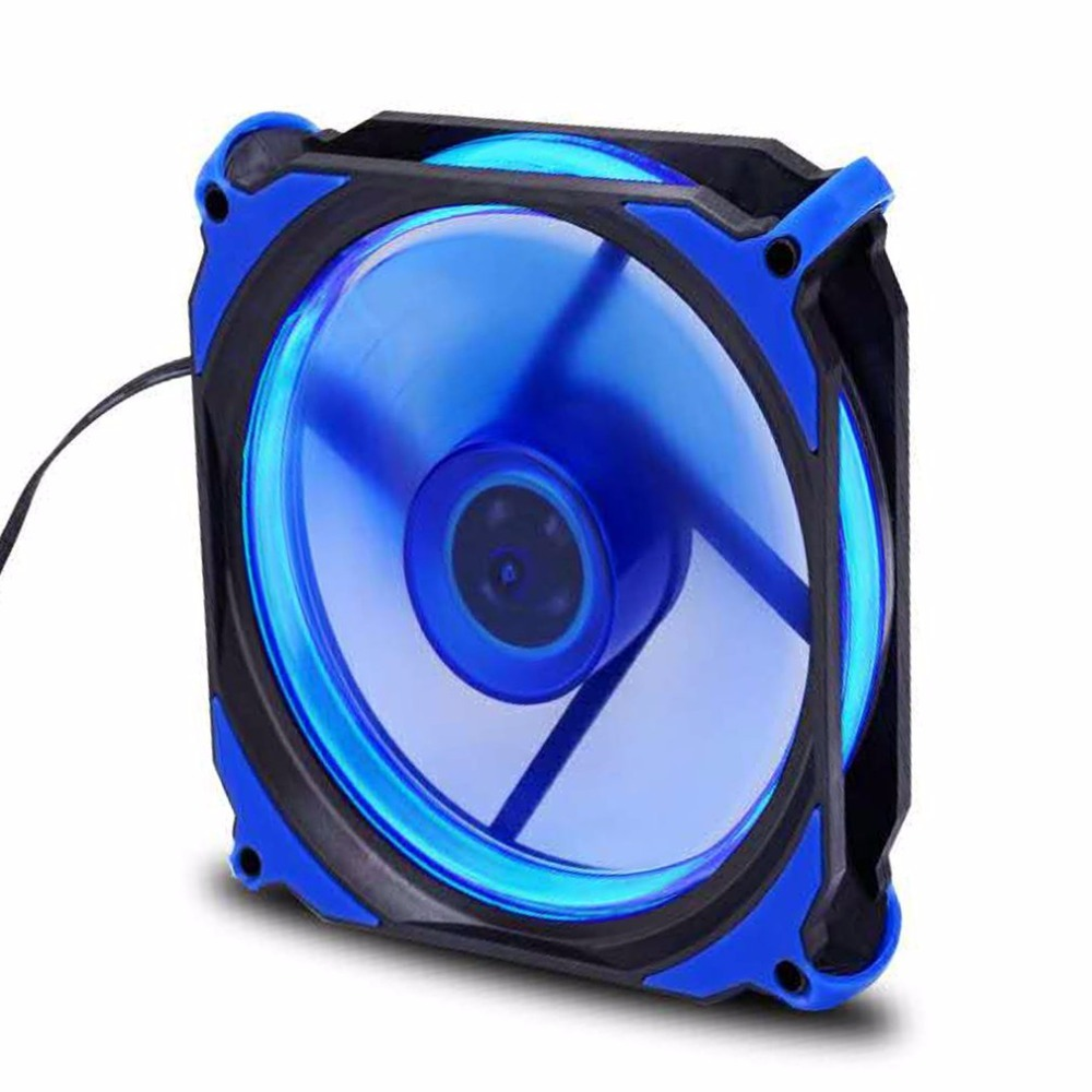 Eclipse 120mm 120x120x25mm LED Cooling Cooler Desktop Computer Case Fan Lower Noise Cooling Fan Silent Fan For Desktop Computers xiaomi vh fan stylish double blade mute cycle desktop silent fan low noise touch sensor switch and second gear adjustable