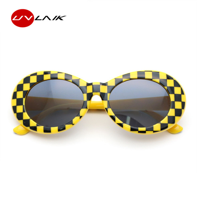 327ff4ab4df10 UVLAIK NIRVANA Kurt Cobain Glasses Round Clout Goggles Sunglasses For Women  Men Mirrored Glasses Retro Female ...
