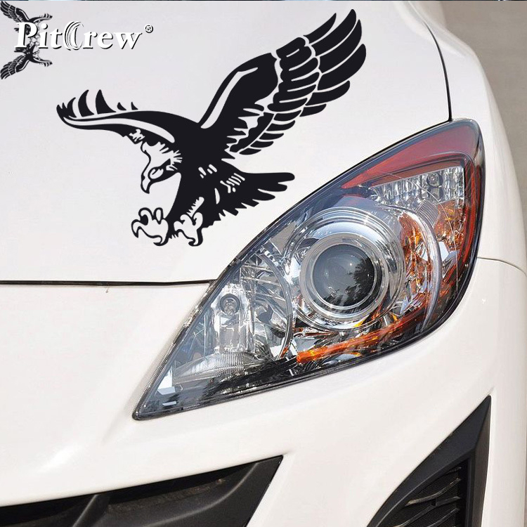 1Pair 38*29cm High Quality Cool Eagle Car Styling Vinyl Wall Stickers and Decals Accessories for Car Animals stickers high quality 1 pair right