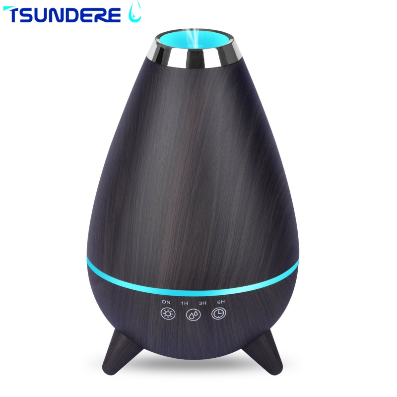 TSUNDERE L 400ml Aromatherapy Essential Oil Diffuser 7 Changing Colors and Auto Shut-off ...