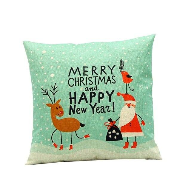 Рождество Наволочка Старинные Наволочки Рождественские Украшения для Дома 2016 Натальной Feliz Navidad Decoracion Kerst Наволочки