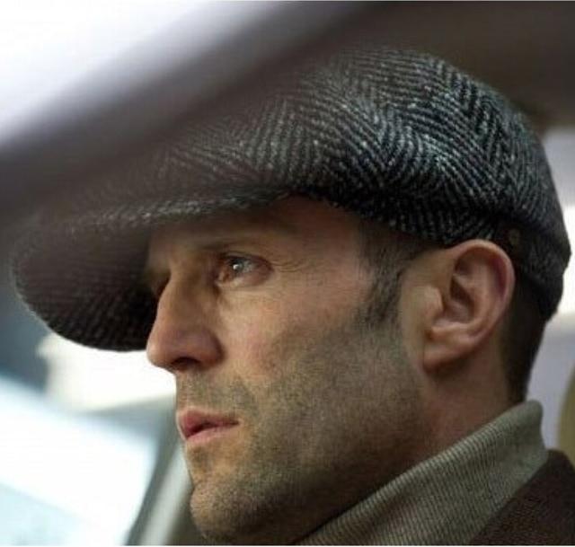 09b80b077c Fashion Octagonal Cap Newsboy Beret Hat Autumn And Winter Hats For Men s  International Superstar Jason Statham