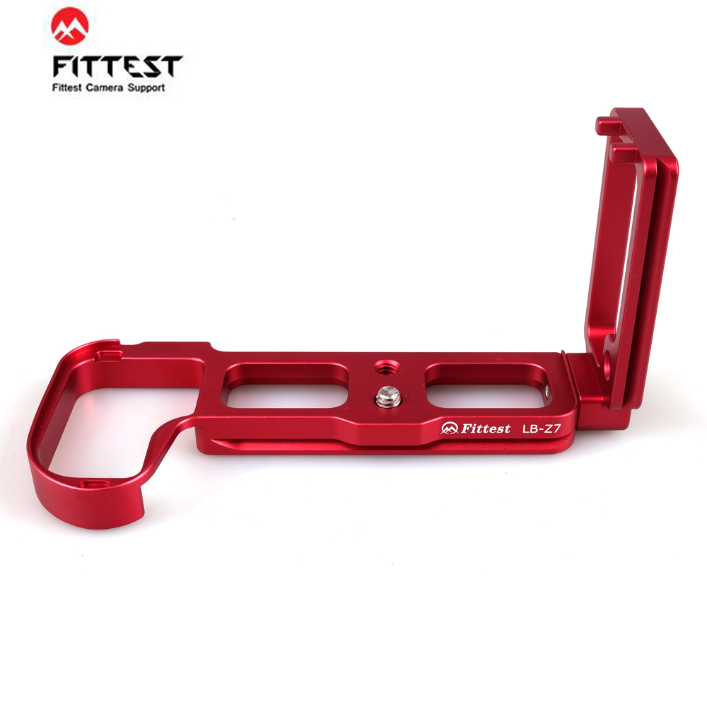 FITTEST Red Color L Bracket Quick Release Plate for Nikon Z7 Nikon Z6 Cameras Vertical Plate Hand Grip RRS Arca swiss CompatibleFITTEST Red Color L Bracket Quick Release Plate for Nikon Z7 Nikon Z6 Cameras Vertical Plate Hand Grip RRS Arca swiss Compatible